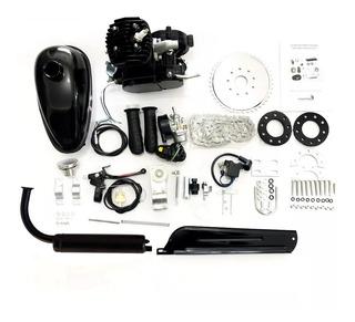 Kit Motor Para Bicicleta Motorizada 80cc 2 Tempos Preto Gasolina Bike Trike Kart