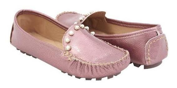 Zapato Mocasin Dama Con Perlas 016087 Mundo Terra
