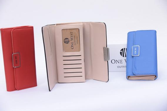 Billetera De Mujer Importada De Colores C/div Y Estuche /604
