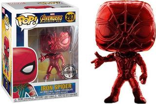 Funko Pop! Iron Spider #287 Exclusivo Popcultcha Avengers