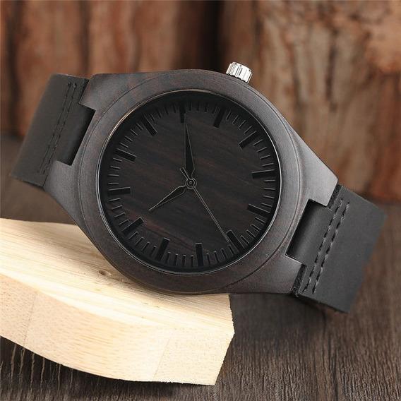 Reloj De Madera [bambu] Unisex