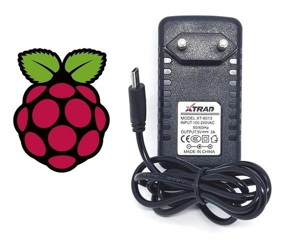 Fonte Carregador Microusb 5v 3a Para Raspberry Pi, Pi2 E Pi3