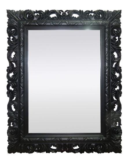 Espelho Sofisticado Decoração Quarto Sala Preto 51x66x4cm