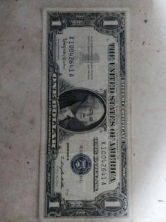 Billete De Un Dolar 1957 Sello Azul