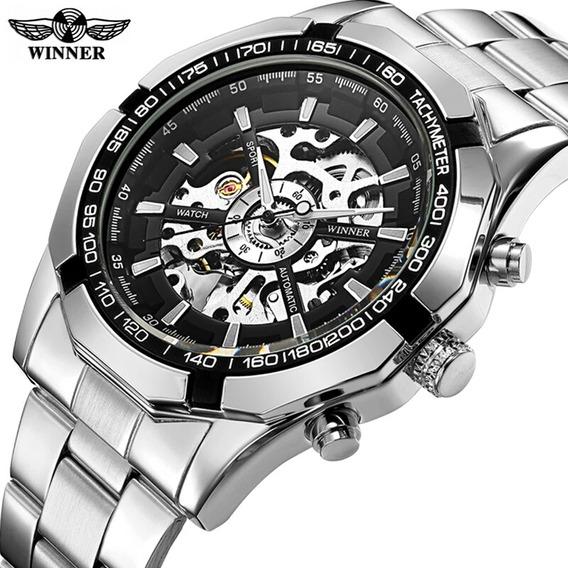 Relógio Winner Original Skeleton Automático Frete Gratis