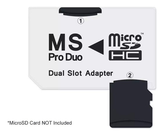 Psp Adaptador Memory Stick Pro Duo P/ Microsd Até 128gb!!