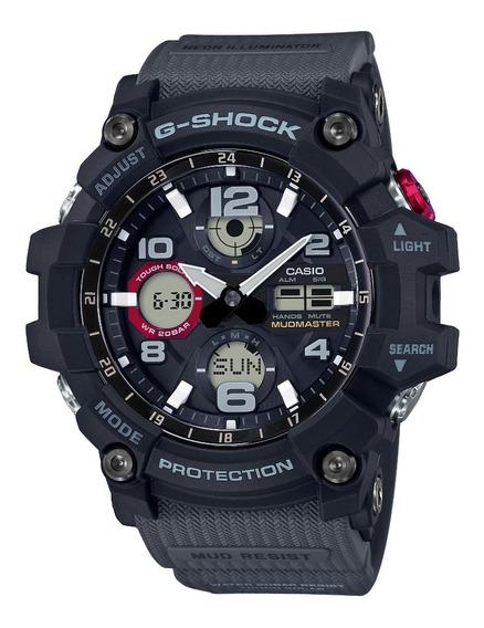 Relógio Casio G Shock Gsg 100-1a8 Cinza Mudmaster Touch Sola