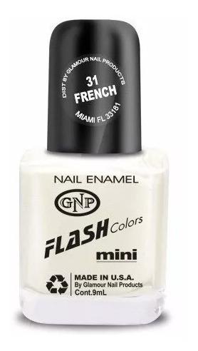 Imagen 1 de 4 de Esmalte Flash Colors De Gnp 9ml Nro.31 French