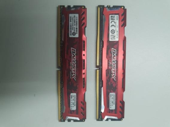 Memoria Ram Crucial Ballistix Sport Ddr4 2400 8 Gb