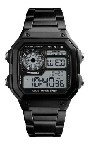 Relógio Unissex Tuguir Digital Tg1335 Preto Retrô Original