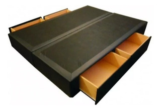 Cama Sommier Box Somier Con 4 Cajones 2 Plazas 140 X 190 Cm
