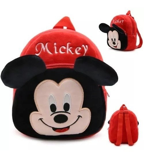 Mochila Mickey Infantil Pelucia Pronta Entrega