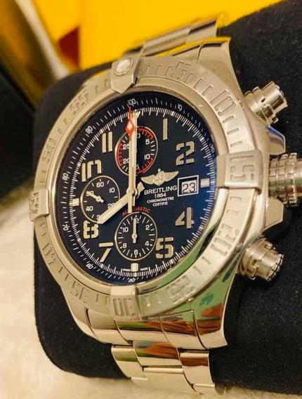 Relogio Breitling Super Avenger Il A1337111-bc28bkpt3 Preto