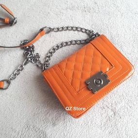 Bolsa Alça Corrente Fashion Pequena Inspired Balada Quadrada