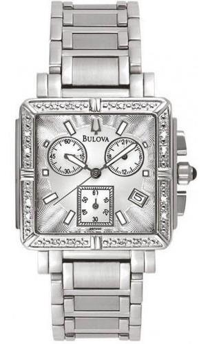 Relógio Feminino Cronógrafo Bulova Diamond Wb27010q