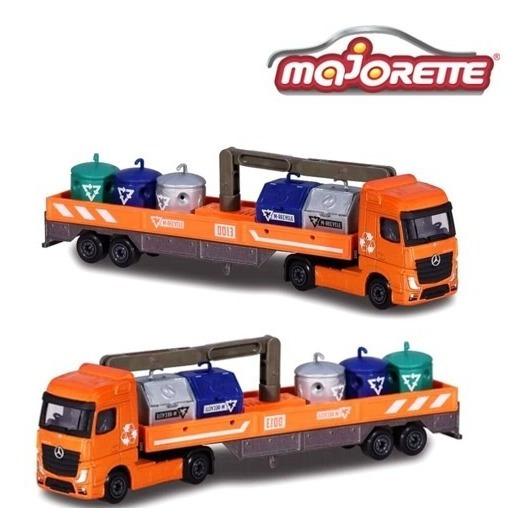 Camión Porta Contenedores Residuo - 1/87 Majorette Die Cast