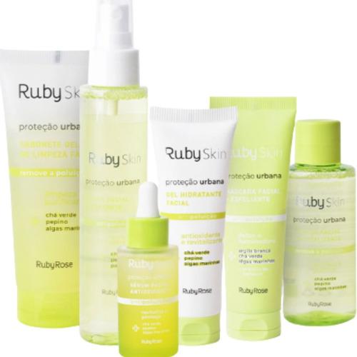 Imagem 1 de 10 de Combo Linha Facial Ruby Skin Proteção Urbana Ruby Rose
