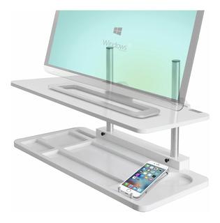 Mesa Elevafácil Ajustable Para Pc All-in-one/monitor, Blanco