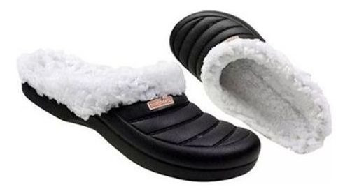 Babuche Crocs Sandália Feminino Lã Boaonda Pantufa Inverno