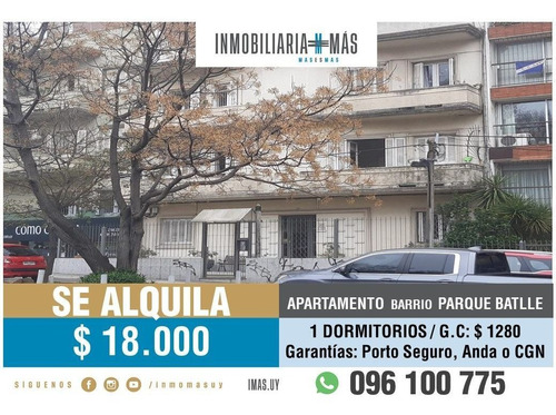 Imagen 1 de 14 de Apartamento  Alquiler Parque Batlle, Montevideo Imas.uy Y*
