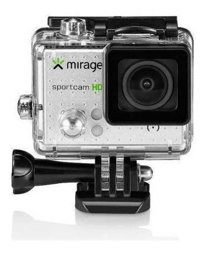 Câmera Mirage Sport Mr3000 Prata / Web Cam + 16gb Mem +kit