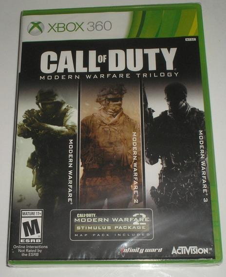 Call Of Duty Modern Warfare Trilogy Xbox 360 Novo Lacrado