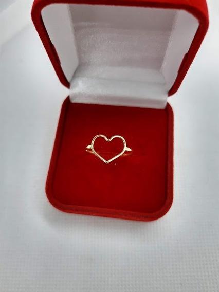 Anel Coração Vazado - Em Ouro 18k (750) Lindo!!