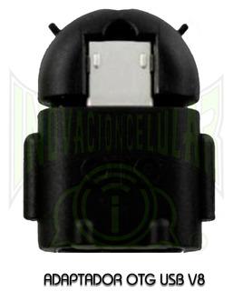 Adaptador Otg V8 Android Portatil Color Negro
