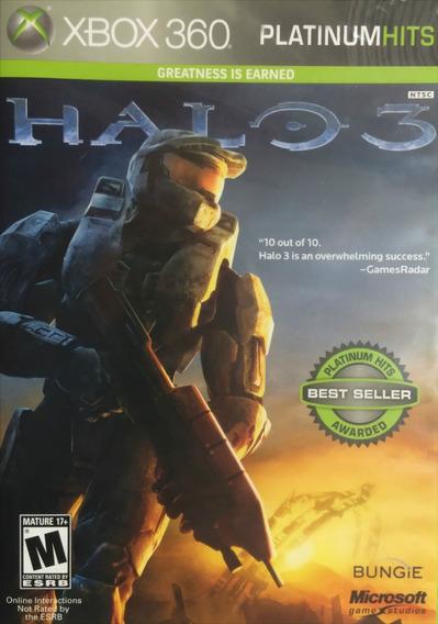 Jogo Halo 3 Xbox 360 X360 Fps Guerra Futurista Frete Grátis