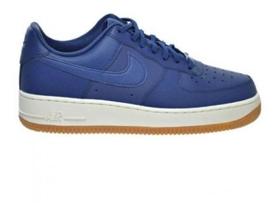 Tênis Nike Air Force 1 07 Seasonal Azul Couro Original