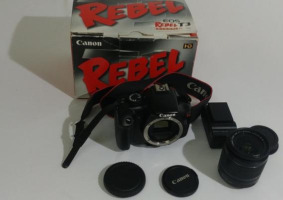 Canon Eos Rebel T3 - Lente 18-55 - Completa