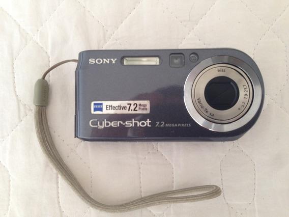 Câmera Fotográfica Sony Dsc P200 Com Case E Acessórios
