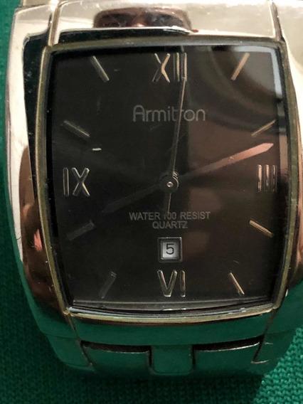 Relógio Armitron Unissex Em Aço- Lindo (usado)