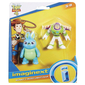 Toy Story 4 Bunny E Buzz Lightyear Imaginext Gbg89 Original