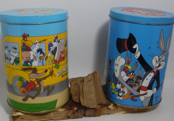 Botes De Aluminio Looney Tunes Vintage Brach´s Candy 2 Pzas