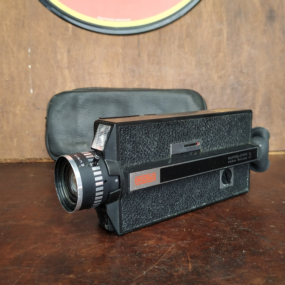 Filmadora Eumig Mini Zoom Reflex 3 Antiga Decorativa