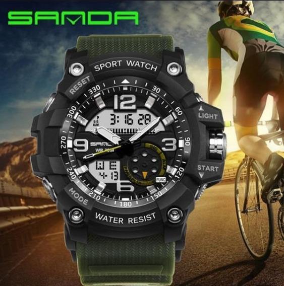 Relógio Esporte Digital E Analógico Sanda 759, Duas Opções