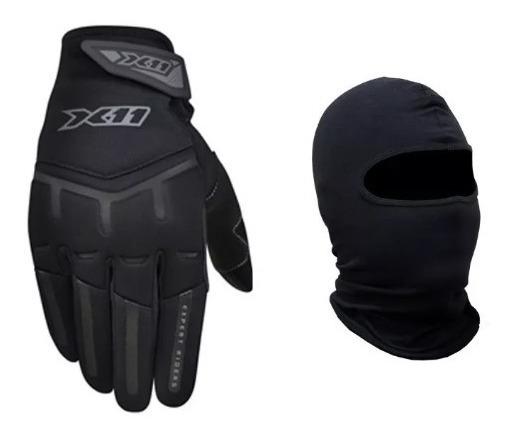 Luva X11 Fit X Motociclista Masc/fem Brinde Balaclava Grats