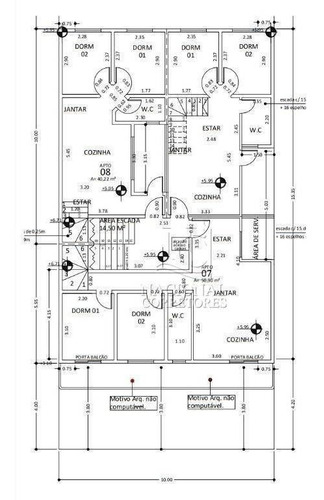 Cobertura Com 2 Dormitórios À Venda, 82 M² Por R$ 295.000,00 - Vila Pires - Santo André/sp - Co5046