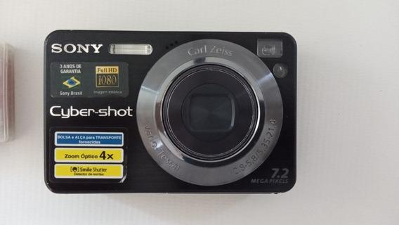 Câmera Sony Cybershot Dsc-w125 7.2 Mega Pixels Completa