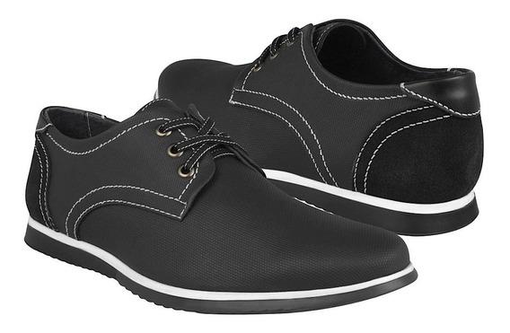 Zapato Casual Stylo Para Caballero Textil Negro 12514
