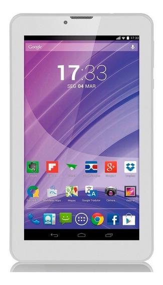 Tablet Multilaser 7polegadas Branco 6gb De Memoria