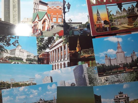 Lote 14 Postales Sin Usar De Moscú - En Estuche