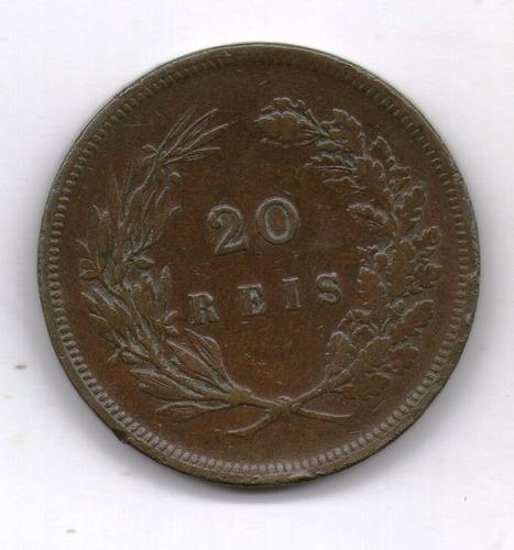 Portugal Moneda 20 Reis 1892 Km#533 - Argentvs