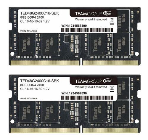 Memoria Ram 16gb (2x8gb) Ddr4 2400mhz Sodimm Teamgroup