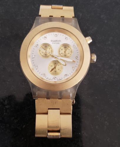Relógio Swatch Swiss Dourado / Quartz