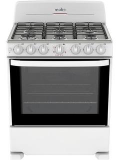 Estufa Mabe 30p Enc Electronico Blanco 6 Quemadores Cocina
