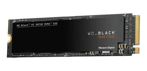 Imagen 1 de 2 de Disco sólido SSD interno Western Digital WD Black SN750 WDS500G3X0C 500GB negro