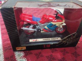 Miniatura Moto Yamaha Fzr600r Escala 1:18 Maisto