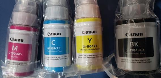 Kit 4 Refil Tintas Original Canon Gi-190